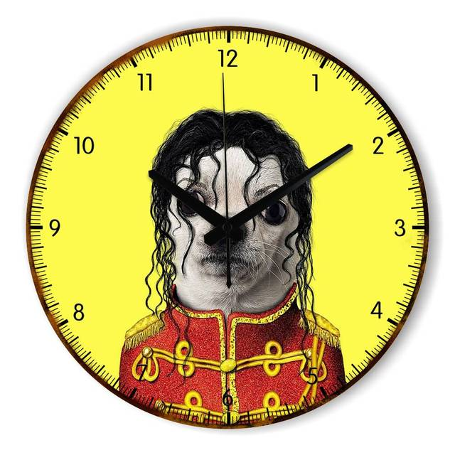 Cartoon Silent Large Decorative Wall Clock For Bedroom Living Room ...