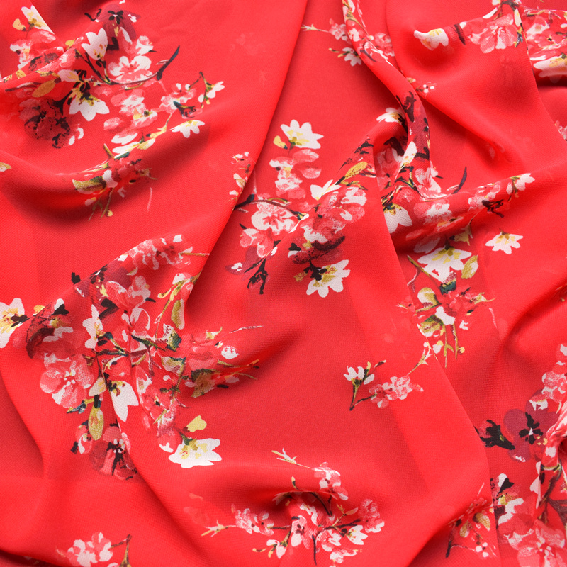 Crinkle chiffon 139cm fabric sewing craft Red Black Ivory Green SALE SALE £3.25