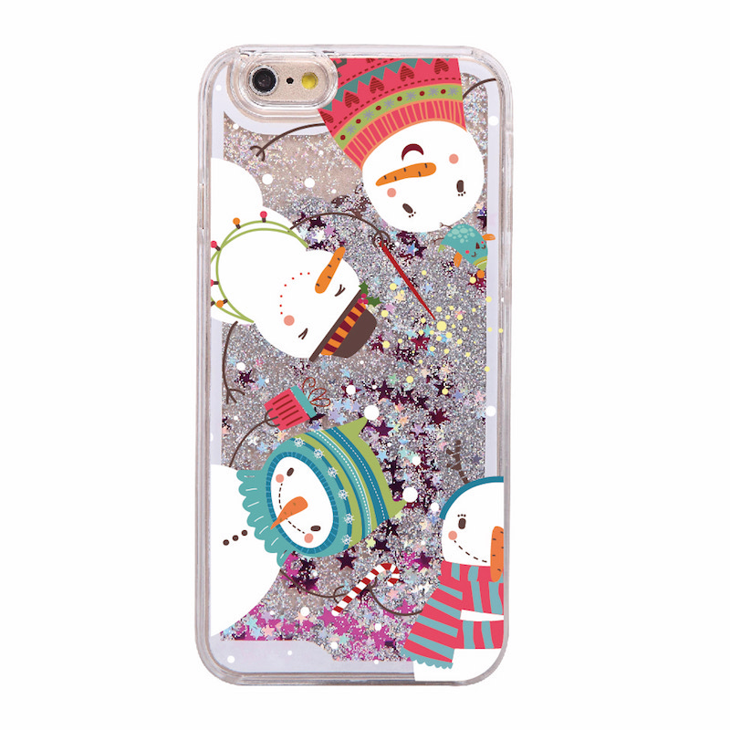 Christmas Santa Claus Tree Snowman Gift Hard Phone Case Coque Fundas For Iphone 5S 6 6S 6Plus 7 7Plus 8 8Plus X XS Max