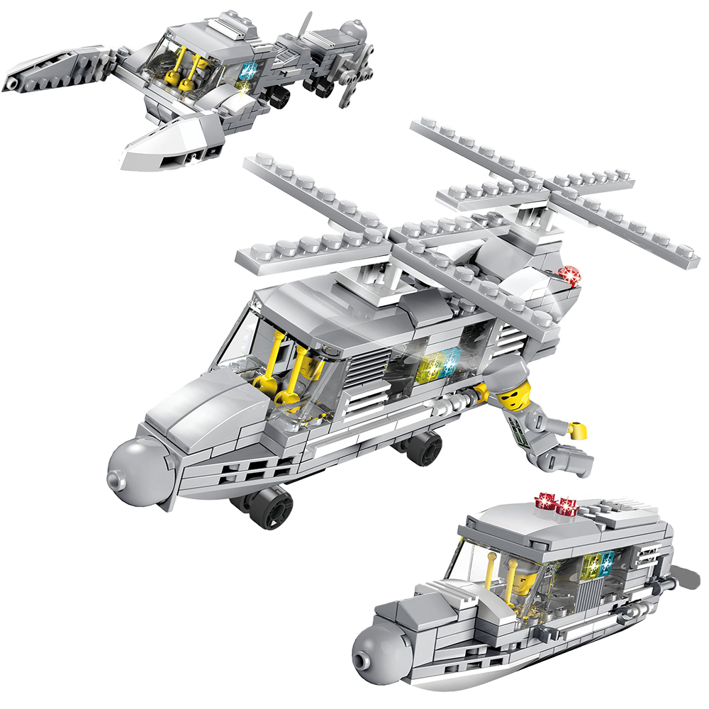 179PCS Military Helicopter Blocks 3 in 1 Military Transport Compatible Legoed Duploed Military For Toys Hobbies transport phenomena in porous media iii