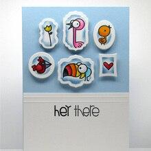 цена на Cartoon Birds Transparent Clear Silicone Stamp DIY Scrapbooking/Photo Album Cards Handcrafts Decorative Clear Stamp Seals