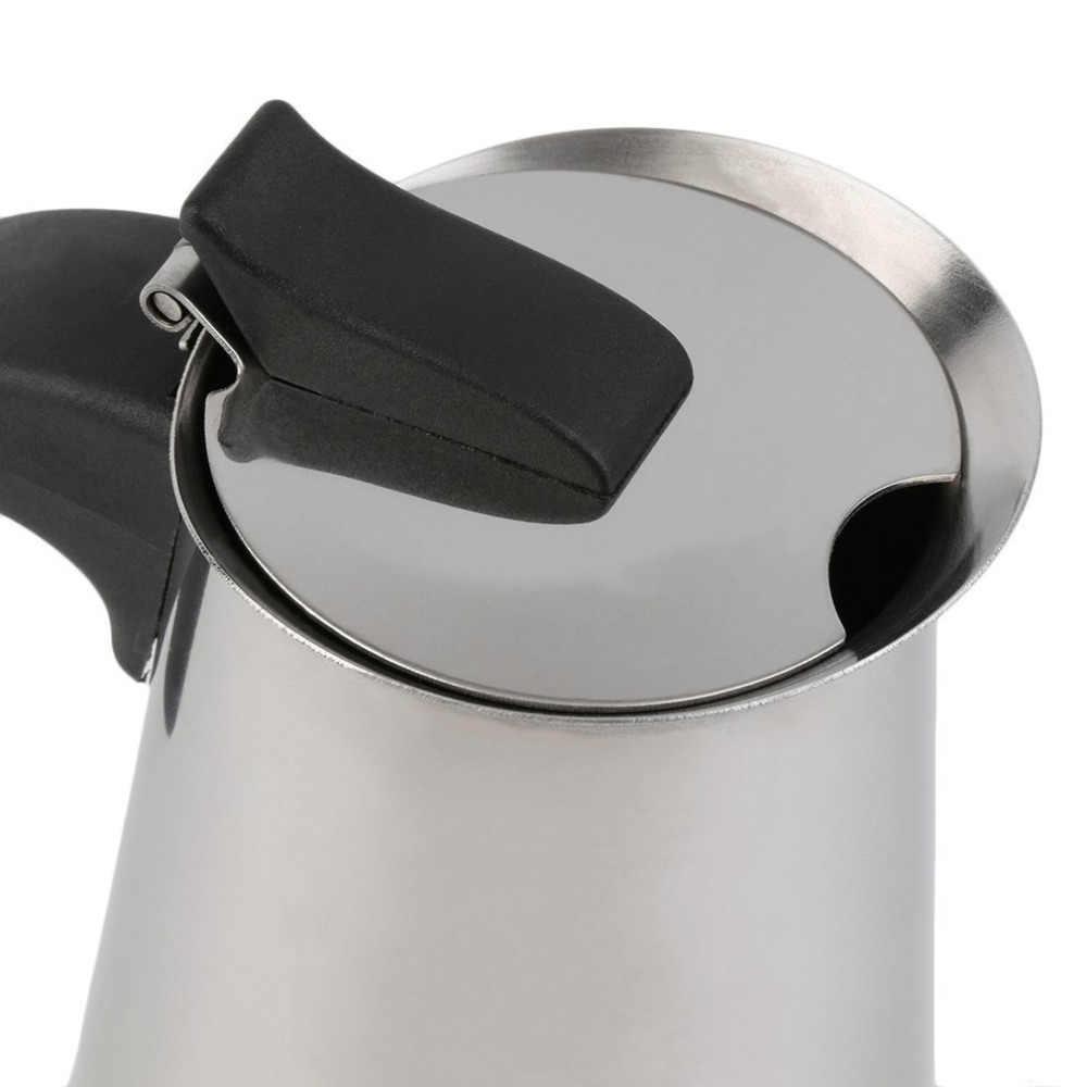 2/4/6 filiżanek wysokiej jakości ekspres do kawiarka Moka/zestaw do mokki, czajniki do Espresso kawiarka ze stali nierdzewnej moka do kawy machi