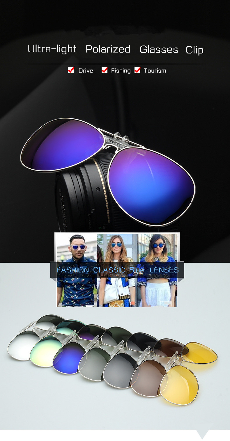 7c39e7547f97a Míope Óculos de Sol de Pesca Óculos polarizados Clipe Masculino ...