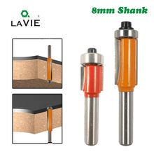 "LA VIE 1 ชิ้น 8 มิลลิเมตร Shank 8 1/2x1/2 ""ขนาดเล็กตัดมีดแบริ่ง Trim Router Bit เครื่องมือ ferramentas para madeira ไม้บิต MC02018"