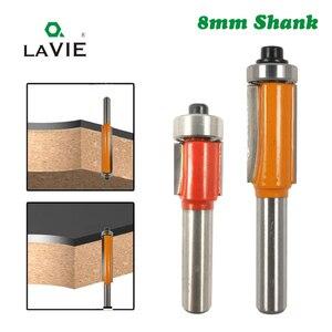 "Image 1 - LA VIE 1pc 8mm Shank 8x1/2"" Small Trimming Knife Bearing Trim Router Bit Tool ferramentas para madeira Woodworking Bit MC02018"