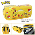 Pocket Monster wallet bag multifunctional double zipper bag wallet Pikachu large stationery