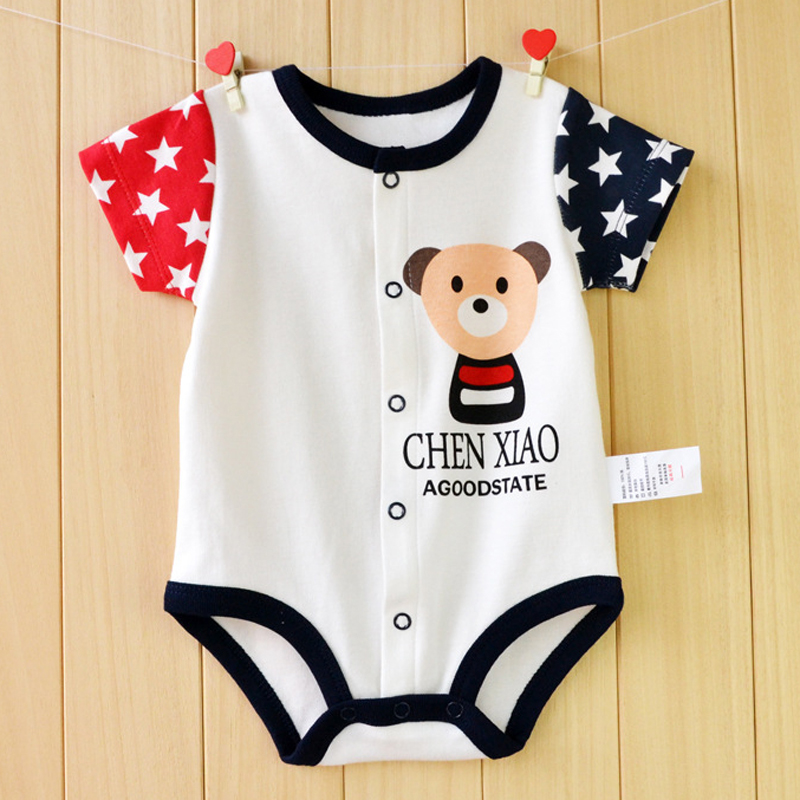 Baby Rompers Summer Baby Girls Clothing Sets Roupas Bebes Cartoon Unisex Newborn Baby Clothes Short Sleeve Baby Boys Jumpsuits unisex baby boys girls clothes long sleeve polka dot print winter baby rompers newborn baby clothing jumpsuits rompers 0 24m