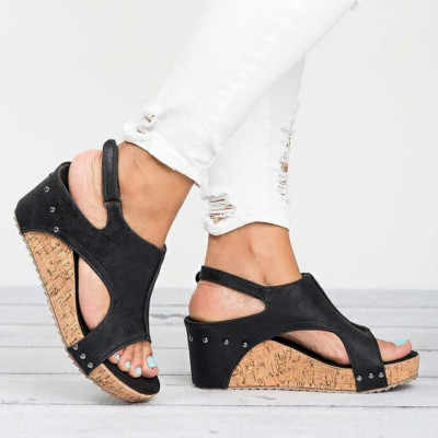 2019 Yeni Gladyatör Sandalet Platformu Kadın Takozlar Ayakkabı Kadın Yaz Önemsememek Açık Ağızlı Yüksek Siyah Flip Flop Terlik Boyutu 35 -43
