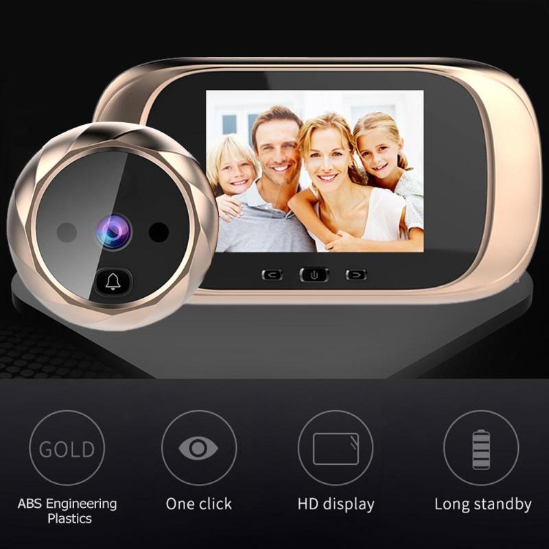 DD1 2.8 Inch LCD Color Screen Digital Doorbell Infrared Motion Sensor Long Standby Night Vision HD Camera Outdoor Door Bell