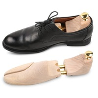 1 Pair Wood Adjustable Shoe Shaper Durable Shoe Trees Wooden Shoes Tree Stretcher Shape Keeper With