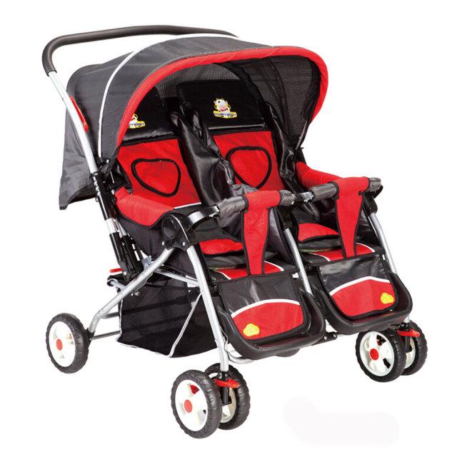 Gemelos gemelos cochecito de bebé cochecito plegable del coche de bebé gemelo doble Envío Libre