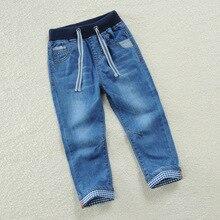 5b9bfb10ca255b Ubranka dla niemowląt i małych chłopców dzieci dżinsy długie spodnie 100%  bawełna Denim spodnie wiosna jesień ubrania 2 T 3 4 5 .