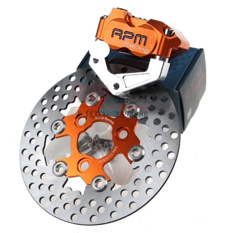 RPM CNC Motorcycle Brake Caliper+Brake Pump Adapter Bracket+200mm/220mm Brake Disc Sets For Yamaha Aerox Nitro BWS 100 JOG 50 rr keoghs real adelin 260mm floating brake disc high quality for yamaha scooter cygnus modify