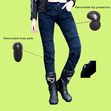 2016 Newest Original Cool UglyBROS Motorcycles Pants UBp09 Stylish Moto Jeans Women Cowboy Protective Gear Girl Motor Jeans Blue