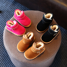 Child snow boots 2016 Autumn and winter boys and girls thick PLU is short boots warm non-slip cotton shoes boots for children
