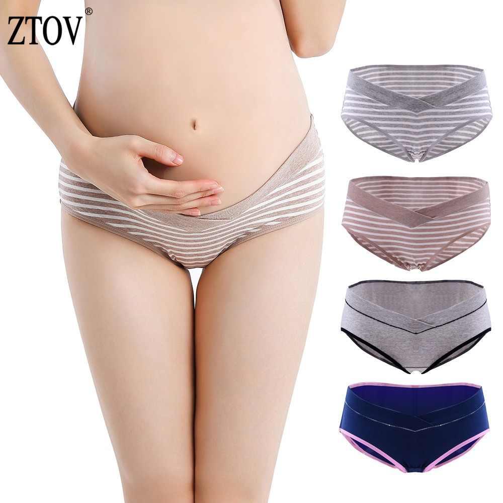 f2a70de8e ZTOV 4 unids lote maternidad bragas embarazo Ropa interior Calzoncillos  ropa para las mujeres embarazadas