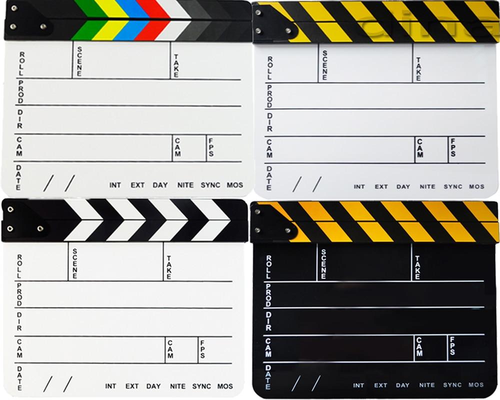 Black Wooden Film Start Clapperboard Director TV Film Movie Clapper Board Action Slate Clap Stick Camera Studio Accessories Prop