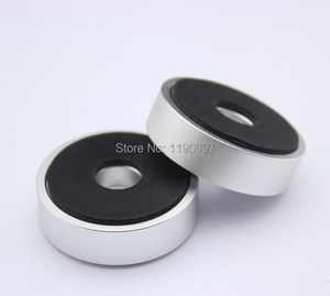 Image 2 - Rubber Ring Shock Absorber Top Aluminum Machine Foot Amplifier Feet Speaker Turntable Feet 40*10MM 2Pieces Free Shipping