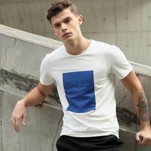 2017 Summer  Latest Design Fashion European Men's Cotton Pure T shirt Tops White Fit Short sleeve Brand Clothing O-Neck T shirt