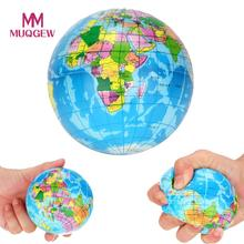 New Stress Relief Decor World Map Foam Ball Atlas Palm Planet Earth squeeze toy squishy antistress toys for children #N30
