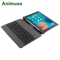 Animuss Split Keyboard Case For iPad With Pencil Holder Keyboard Case 9.7 Auto Sleep Wake Cover Case For iPad Smart PU Leather