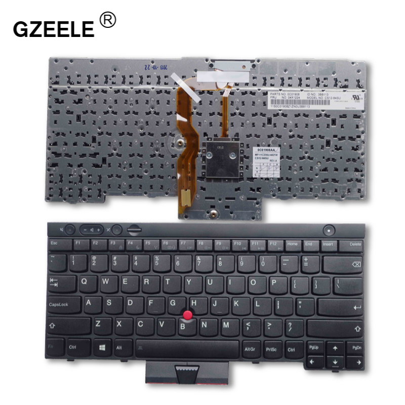 GZEELE NEW US laptop Keyboard for LENOVO FOR IBM ThinkPad T430 T430I T430S X230 X230I X230T T530 T530I W530 L430 L530 BLACK NEW new for sony vgn fj series laptop us keyboard 147951221 black
