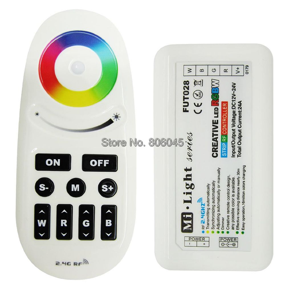 <font><b>FUT028</b></font> Mi.Light 2.4G RF Wireless Remote RGBW Controller DC12-24V Auto Singal Transmission Auto-Sync for RGBW LED Striplight image