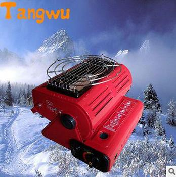Free shipping household Portable outdoor heating stove gas heater heater dual-purpose tent camping fishing