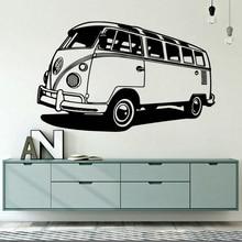 VW Camper Car Vinyl Wall Sticker For Kids Room Mural Volkswagen Camper Van VWCV Classic Antique Decal Wall Decoration W442