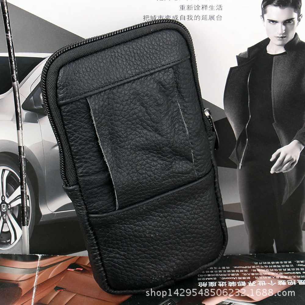 Luxe Lederen Mannen Taille Loop Riem Clip Case Tas Voor Samsung S9 S8 S7 S6 Rand Note 5 J3 J5 j7 A3 Outdoor Telefoon Pouch Coin Case
