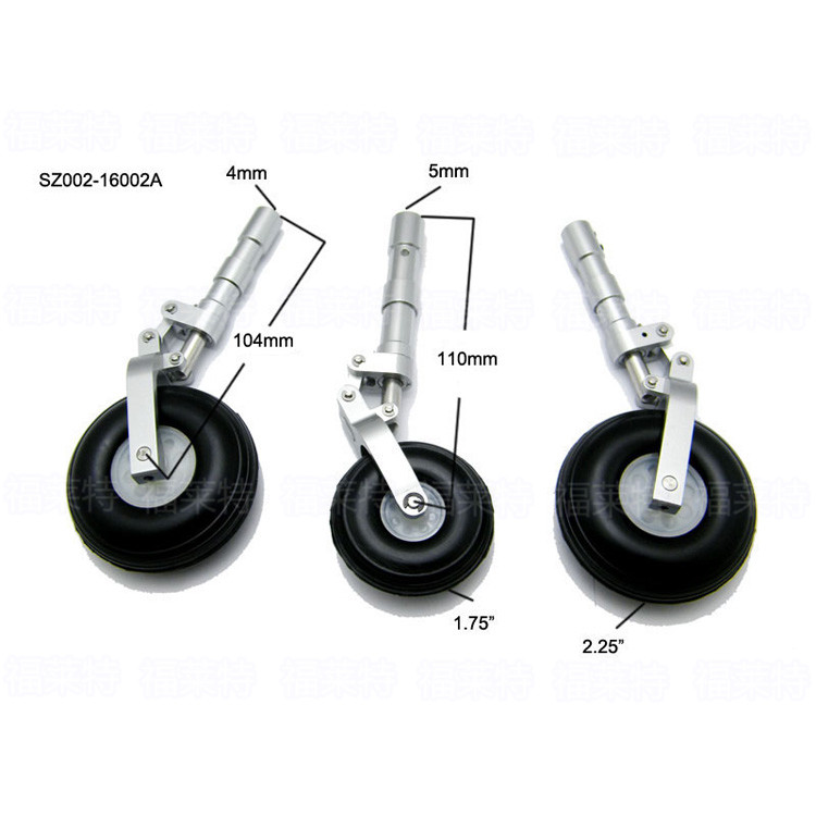 1 Set Of Aluminum Alloy Anti Shock Leg Landing Gear With Wheels SZ002-16002 For RC Airplane 1 set of aluminum alloy anti shock leg landing gear with wheels sz002 16002 for rc airplane