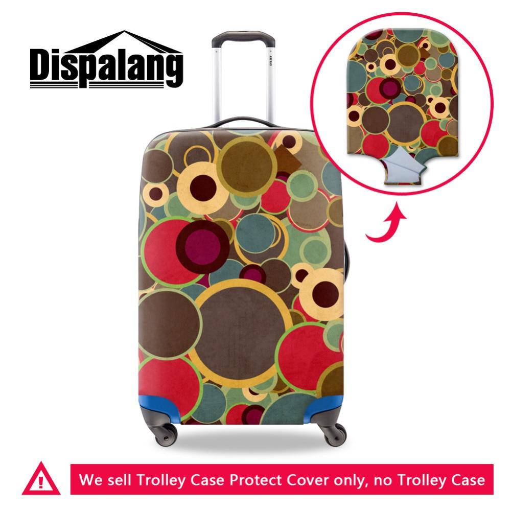 1279e17ac1b80 Moda Renkli Daire elastik bagaj kapağı Su Geçirmez bavul kılıfı 18-30 inç  Için Geçerli Seyahat Kılıf Bayan Seyahat Aksesuarları