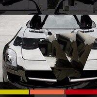 Otomatik Kapak Wrap Plakası Kabarcık Ücretsiz Film Vinil Krom Siyah Kendinden Yapışkanlı Araba styling Için Konsol Paneli Etiket 12