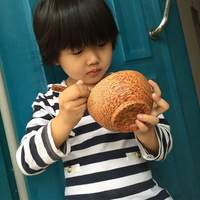 Vietnam Red Wooden Utensils Natural Coconut Wood Child Wooden Bowl Baby Bowl Soup Logs No Paint