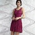 2017 más tamaño vestido de renda gorgeous skater dress en espalda abierta con tirantes cruzados berry lc2915 de festa vestidos femininos