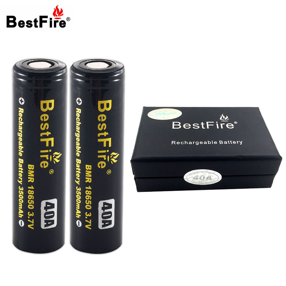 2PCS Bestfire 18650 Battery Li-ion Battery 3500mAh 3.7V 40A Rechargeable Battery with Exquisite Box for E-Cigarette стоимость