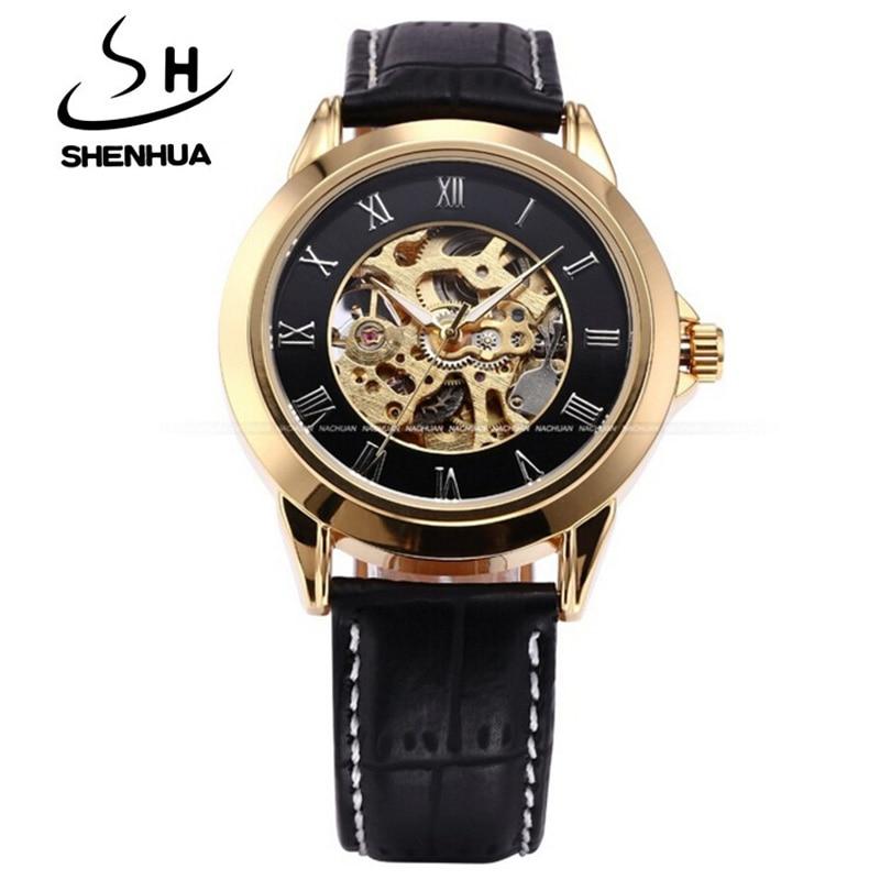 Shenhua Mens Watches Jenama Mewah Emas Jam Tangan Automatik Mekanikal - Jam tangan lelaki - Foto 2