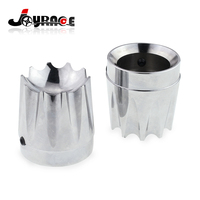 Chrome CNC Deep Edge Cut Excalibur Front Axle Nut Cover Bolt For Harley Softail Dyna Fatboy