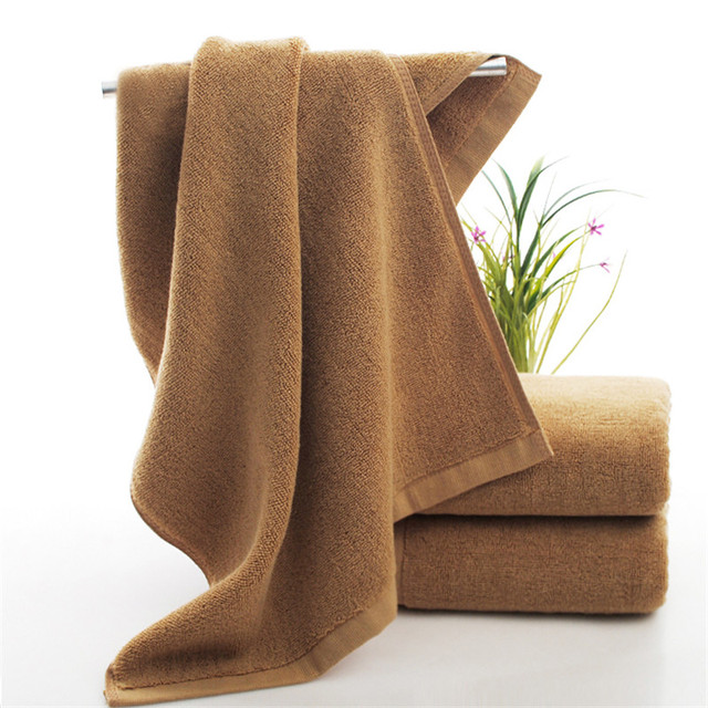 The most popular product of 2017 is 100% pure cotton plain brown flat bath towel brown 70 140cm towel