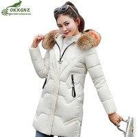 2019 winter new Big fur collar cotton jacket female medium long slim thick warm parkas plus size Women clothing down cotton coat
