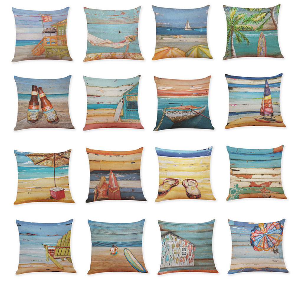 hamptons coastal beach sealife pillow pillows pin