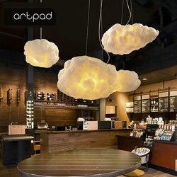 Artpad Criativo Nuvem Branca Luminária AC110V-220V Algodão De Seda E27 LEVOU Escada Luzes do Pendente Para O Café Das Crianças Das Crianças