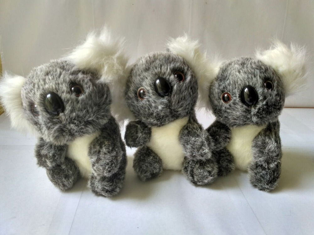 10 pieces a lot mini cute plush gray koala toys stuffed koala doll gift about 12cm-in Stuffed & Plush Animals from Toys & Hobbies    1