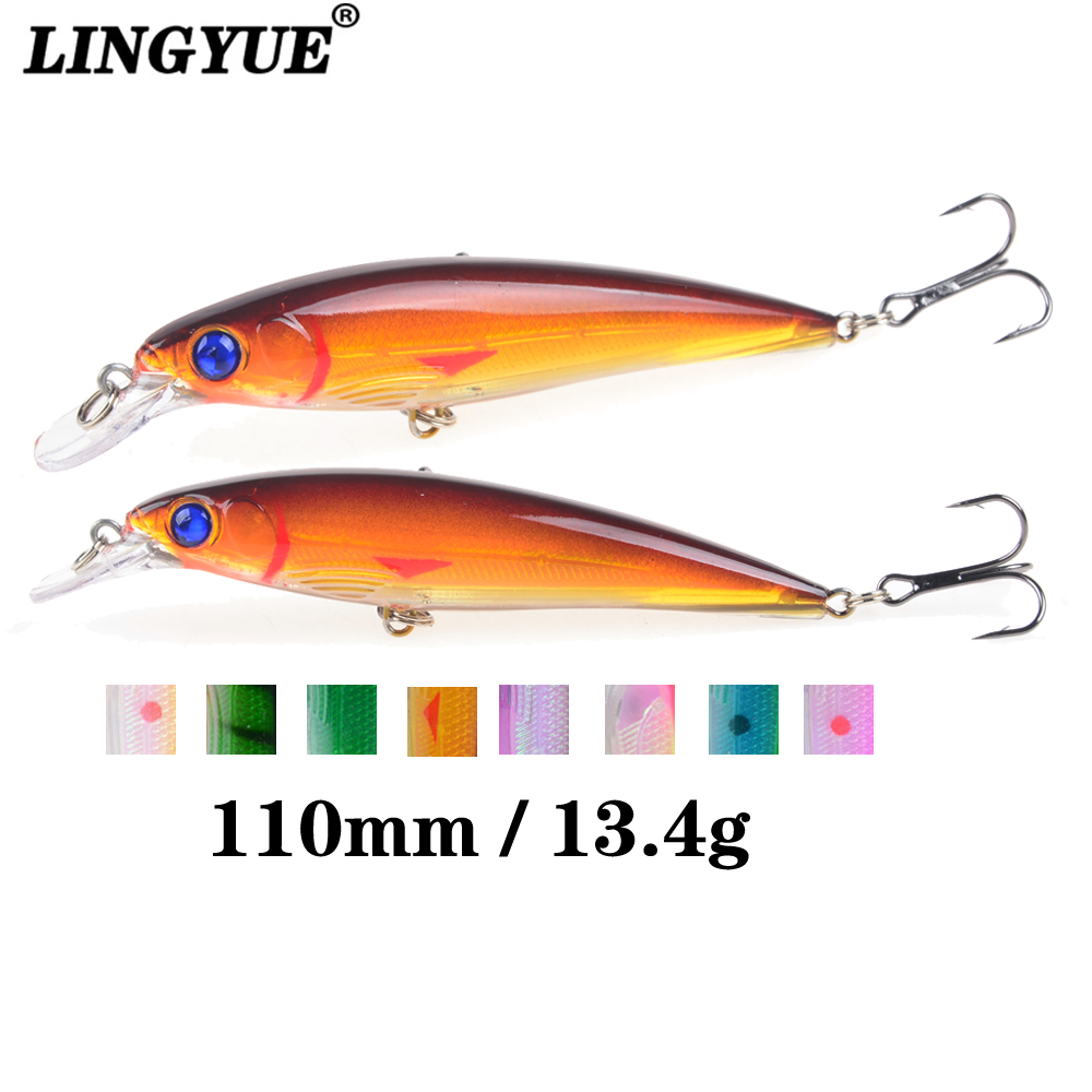 1PCS Sinking Minnow Fishing Lure Laser Hard Artificial Bait 3D Eyes 11cm 13.4g Fishing Wobblers Crankbait Minnows 5pc sinking fishing lure minnow wobblers crankbait laser hard artificial bait 3d eyes fish trout swim baits with treble hook sea