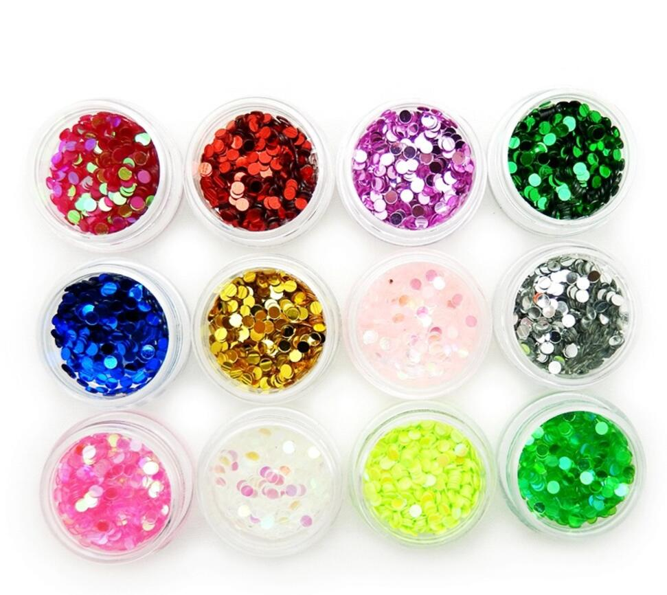 12 Box 12 Color Round Glitter Sequin Beads For Jewelry Epoxy Resin Fillers DIY Making Nail Art Decoration