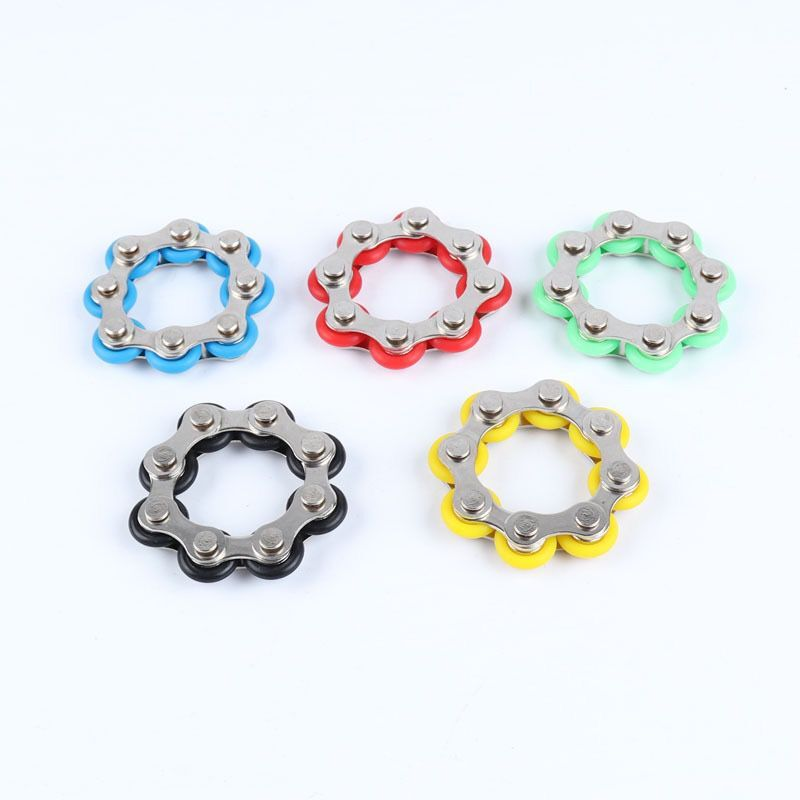 Fidget Spinner Desk-Toys Bike Anti-Stress ADHD Chain Autism for And Chaney Reliever 1pcs img5