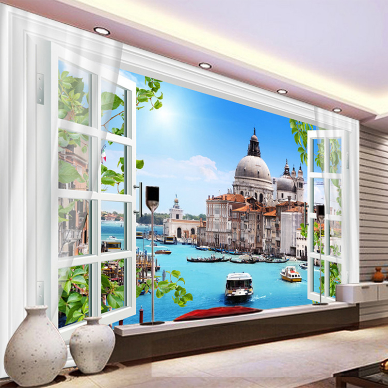 Compare prices on venice wallpapers online shopping buy for Custom mural cost
