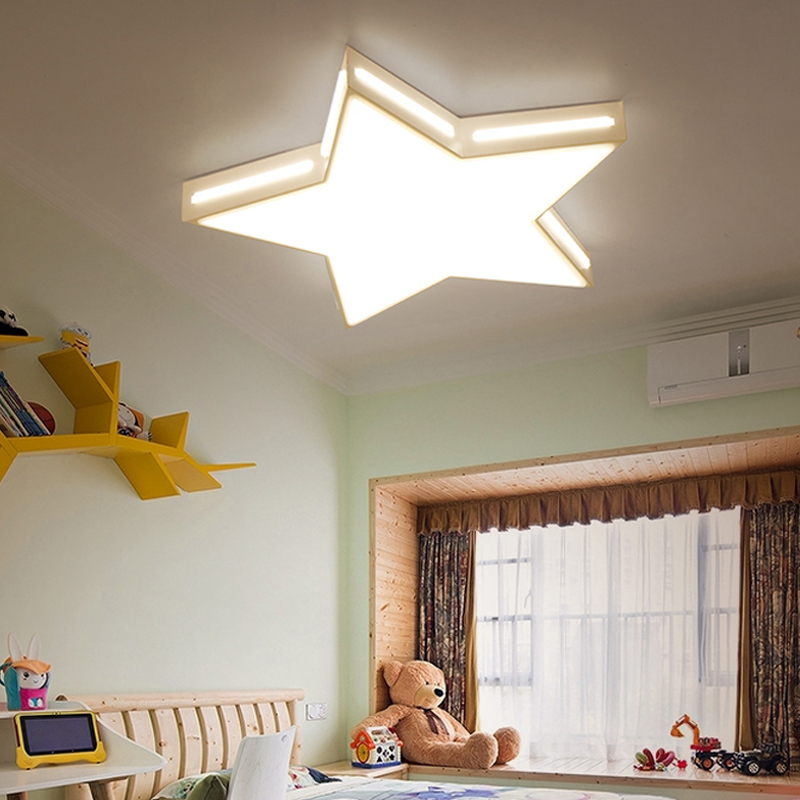 Star Modern Led Ceiling Lights Bedroom Children Living Room Kitchen Restaurant Hallway Ceiling Lamp Lighting Fixtures 110-220V children lamp creative led ceiling lights remote control dimmer color cartoon absorb living room restaurant superior hotel et36