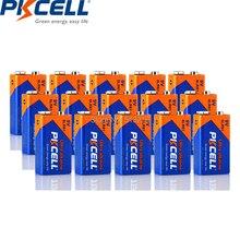 15 sztuk PKCELL 9 V termometr bateria 6LF22 6LR61 PPP3 1604 bateria alkaliczna nie akumulator 9 v baterie do MP3 pilot