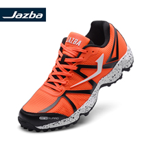 JAZBA RATTLER 2.1 Mens Professional Field Hockey Shoes Training Rubber Cleats Boots Orange Outdoor Sports Sneakers